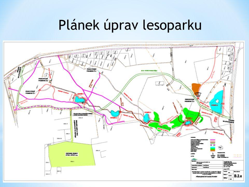Plánek úprav lesoparku