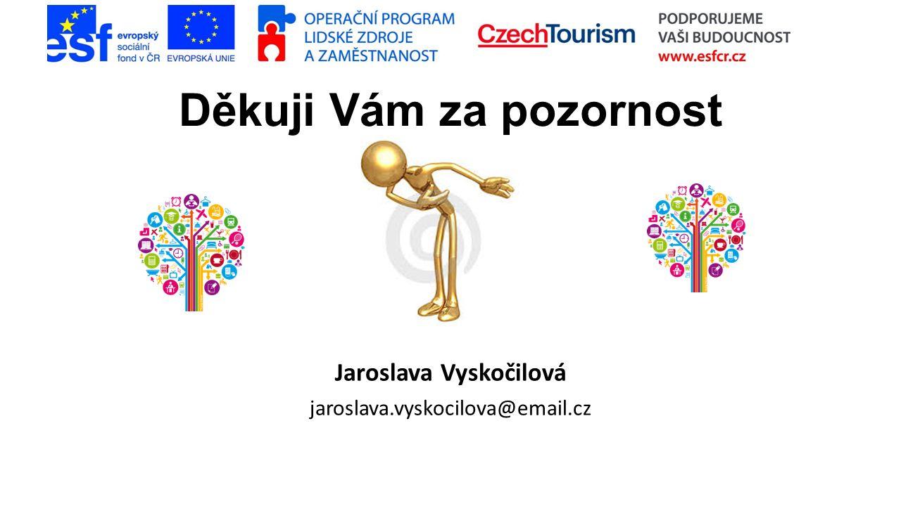 Děkuji Vám za pozornost Jaroslava Vyskočilová jaroslava.vyskocilova@email.cz