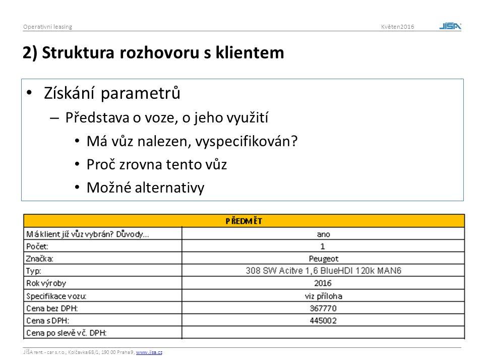 JÍŠA rent - car s.r.o., Kolčavka 68/1, 190 00 Praha 9, www.jisa.czwww.jisa.cz Operativní leasing Květen2016 Celkové náklady na vozidlo - TCO Výpočet: - Pořizovací cena - Pohonné hmoty - Pojistné - Spoluúčasti - Náklady na údržbu - Náhradní vozidla - Mýtné - Poplatky - Nečekané výdaje + Příjmy z prodeje = Celkové náklady