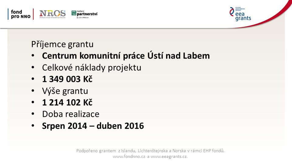 Podpořeno grantem z Islandu, Lichtenštejnska a Norska v rámci EHP fondů.
