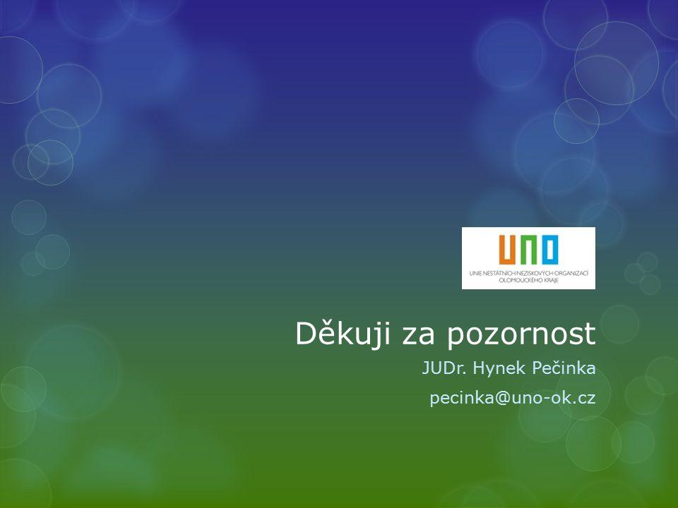 Děkuji za pozornost JUDr. Hynek Pečinka pecinka@uno-ok.cz