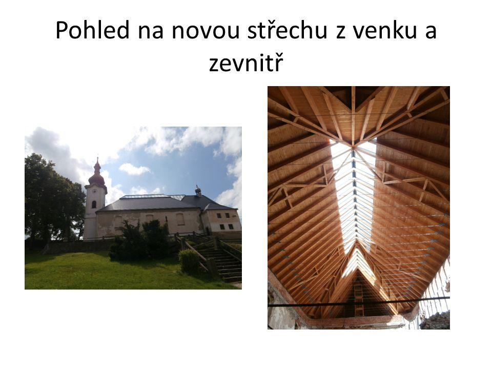 Pohled na novou střechu z venku a zevnitř