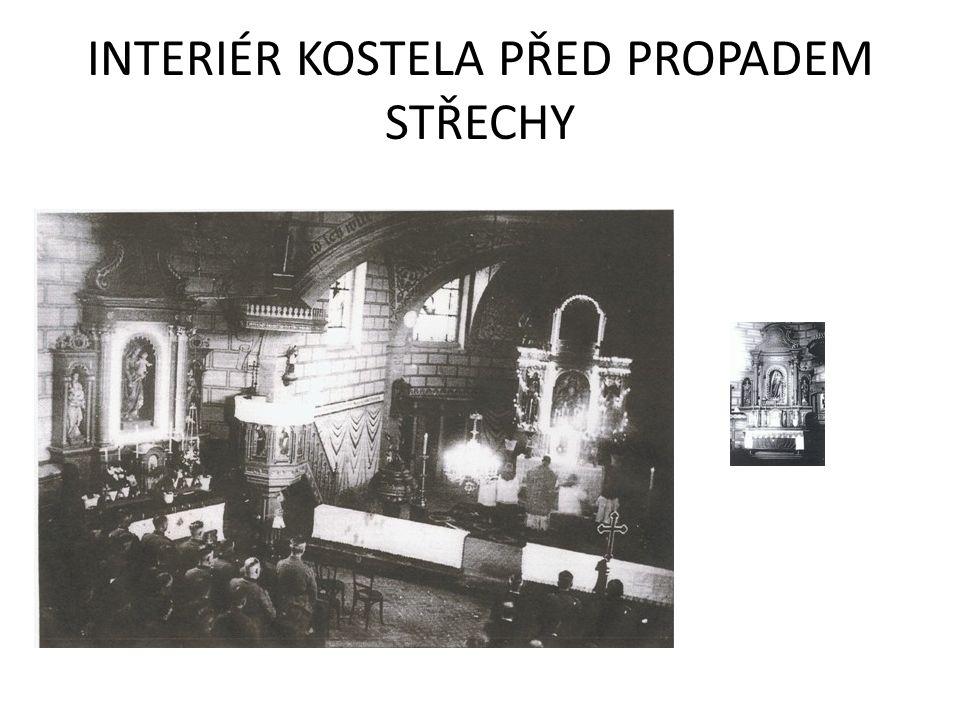 11.7.1988 v 18,33h, se z důvodu neřešeného, špatného technického stavu krovu střecha kostela propadla