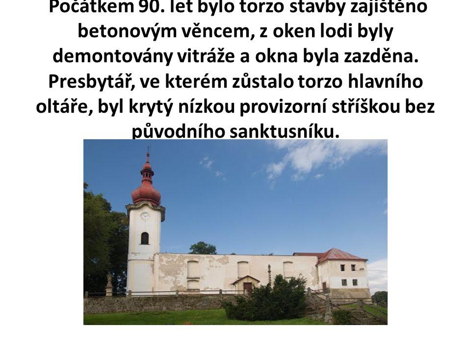 2002 - 2004 Při jednáních s Římskokatolickou farností Petrovice se ukázalo, že vlastník nemá žádný plán na záchranu kostela.