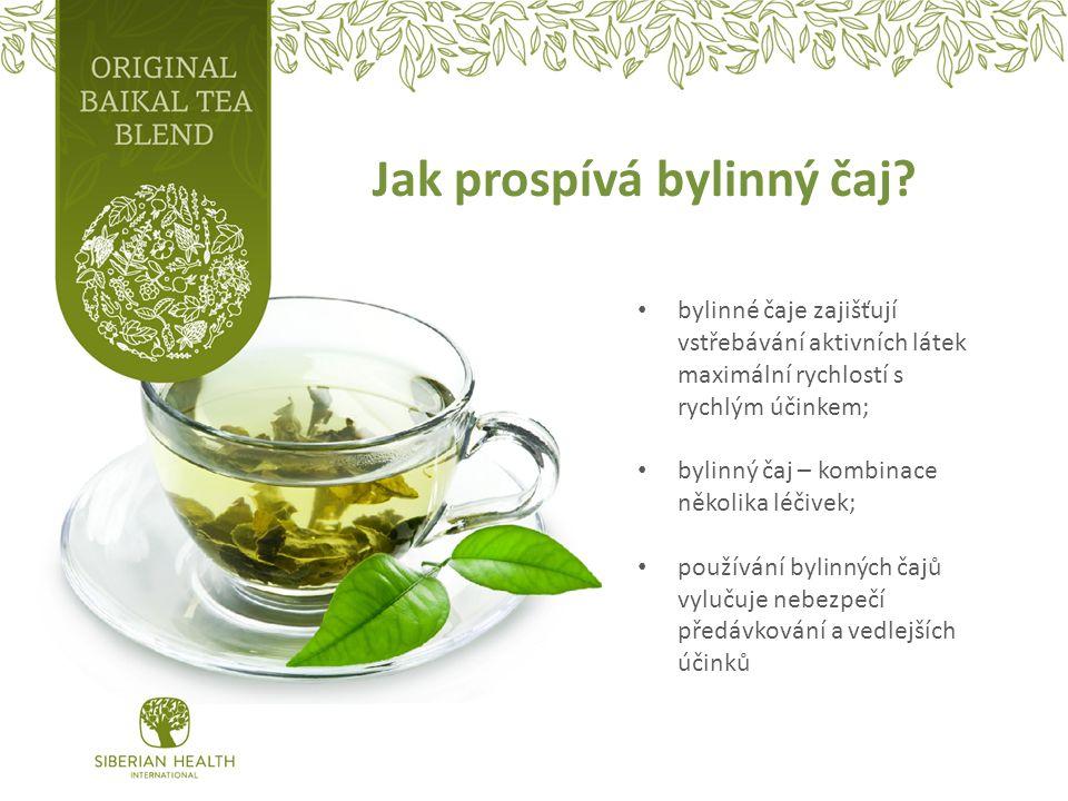 Jak prospívá bylinný čaj.
