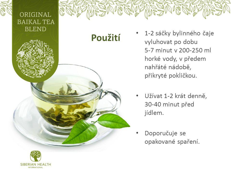 Použití 1-2 sáčky bylinného čaje vyluhovat po dobu 5-7 minut v 200-250 ml horké vody, v předem nahřáté nádobě, přikryté pokličkou.