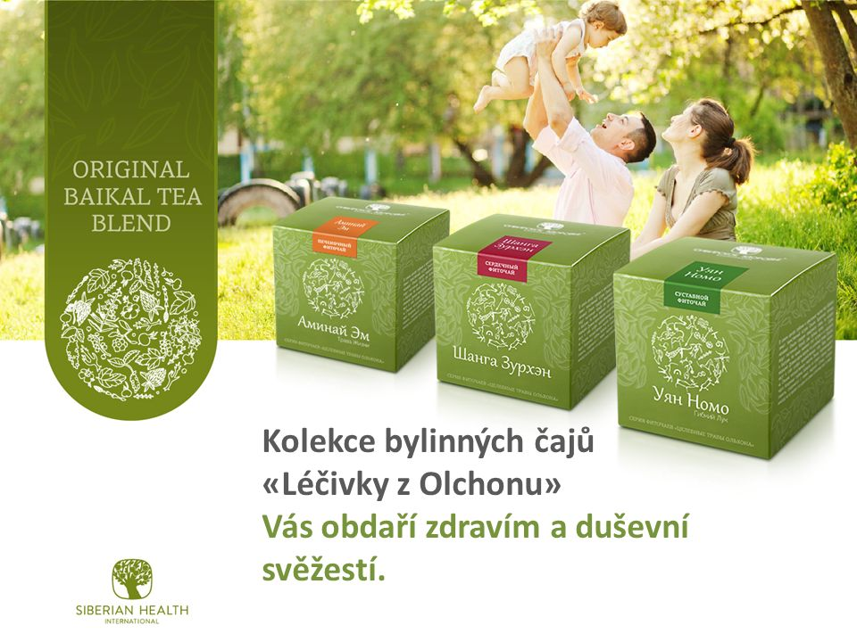 Kolekce bylinných čajů «Léčivky z Olchonu» Vás obdaří zdravím a duševní svěžestí.