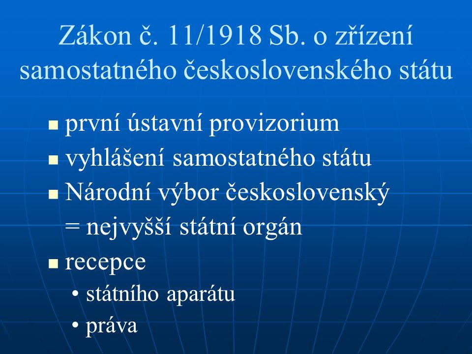 Zákon č. 11/1918 Sb.