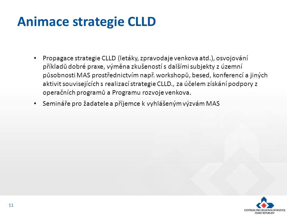 Propagace strategie CLLD (letáky, zpravodaje venkova atd.), osvojování příkladů dobré praxe, výměna zkušeností s dalšími subjekty z územní působnosti