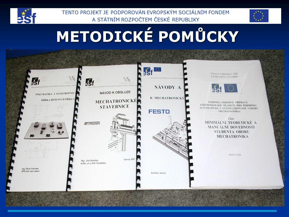 METODICKÉ POMŮCKY TENTO PROJEKT JE PODPOROVÁN EVROPSKÝM SOCIÁLNÍM FONDEM A STÁTNÍM ROZPOČTEM ČESKÉ REPUBLIKY