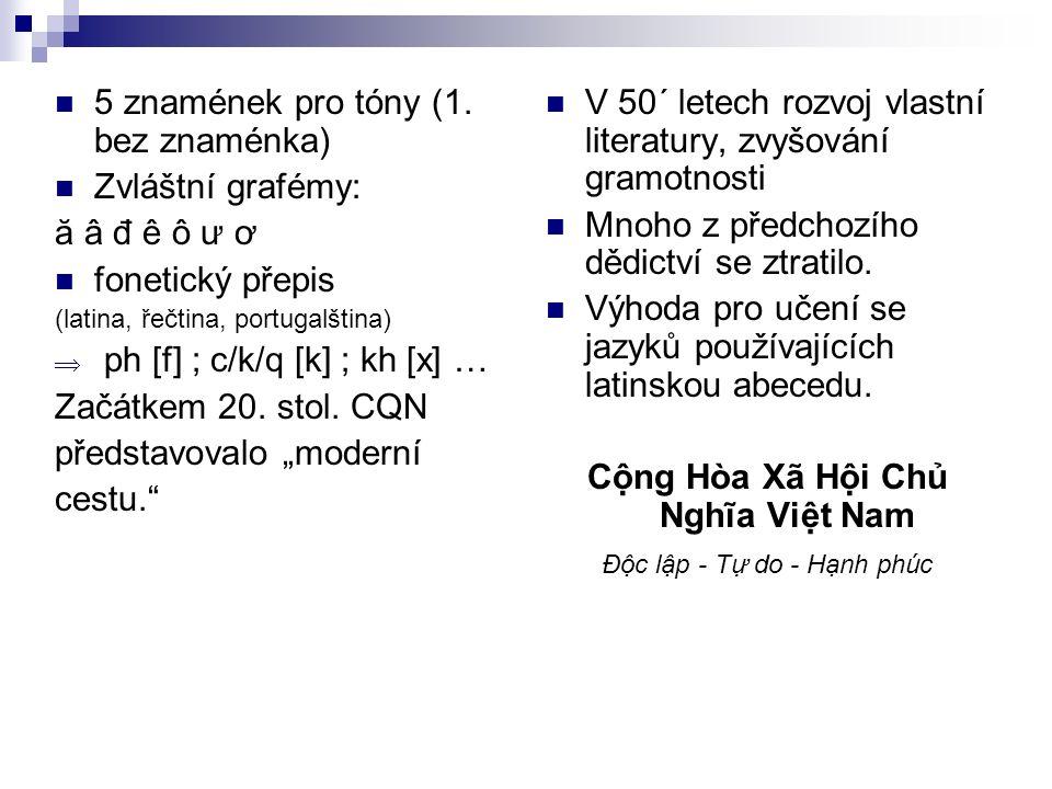 5 znamének pro tóny (1.