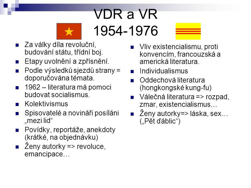 VDR a VR 1954-1976 Za války díla revoluční, budování státu, třídní boj.