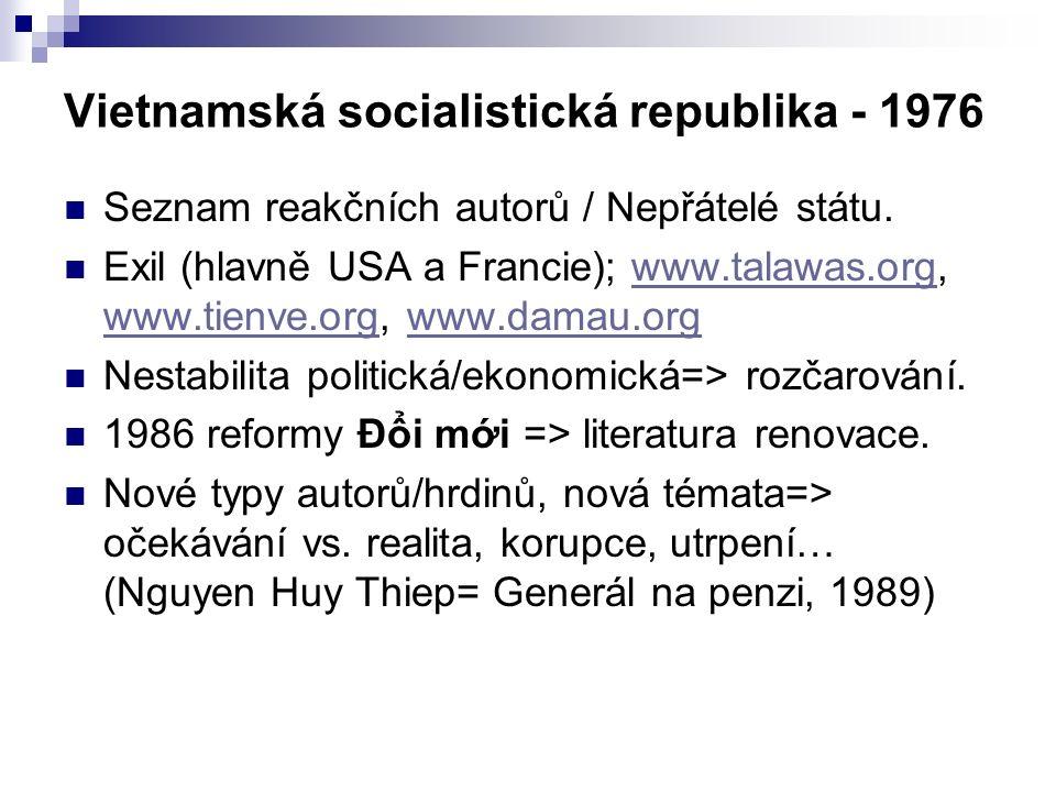 Vietnamská socialistická republika - 1976 Seznam reakčních autorů / Nepřátelé státu.