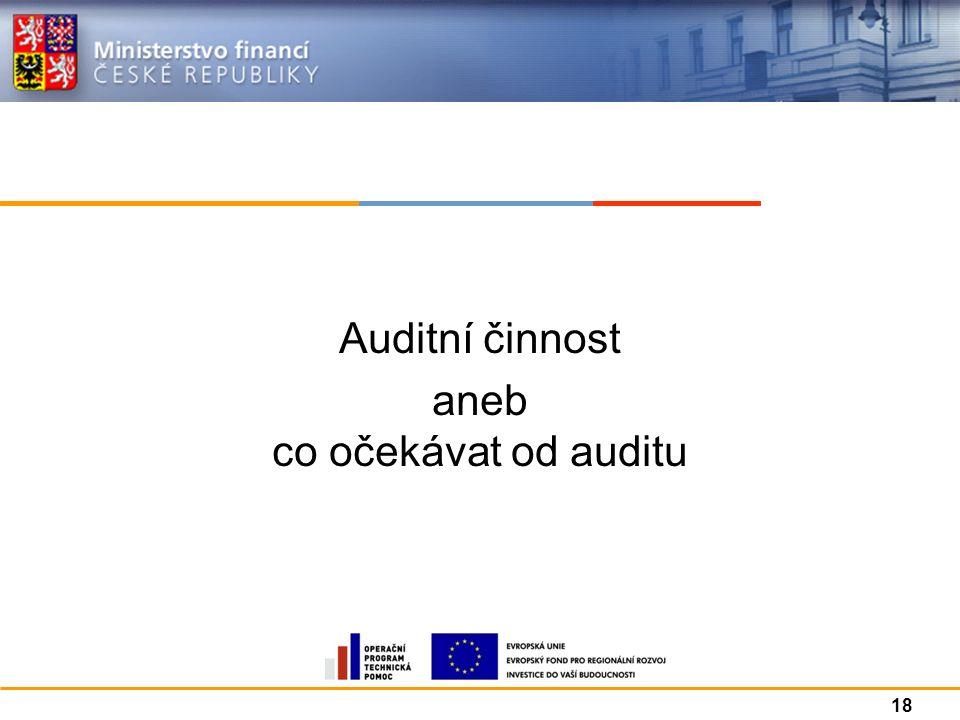 Auditní činnost aneb co očekávat od auditu 18