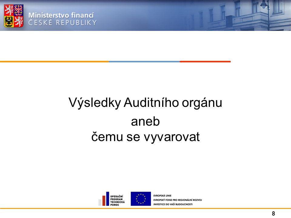 Výsledky Auditního orgánu aneb čemu se vyvarovat 8