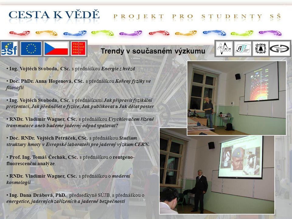 Trendy v současném výzkumu Ing. Vojtěch Svoboda, CSc.