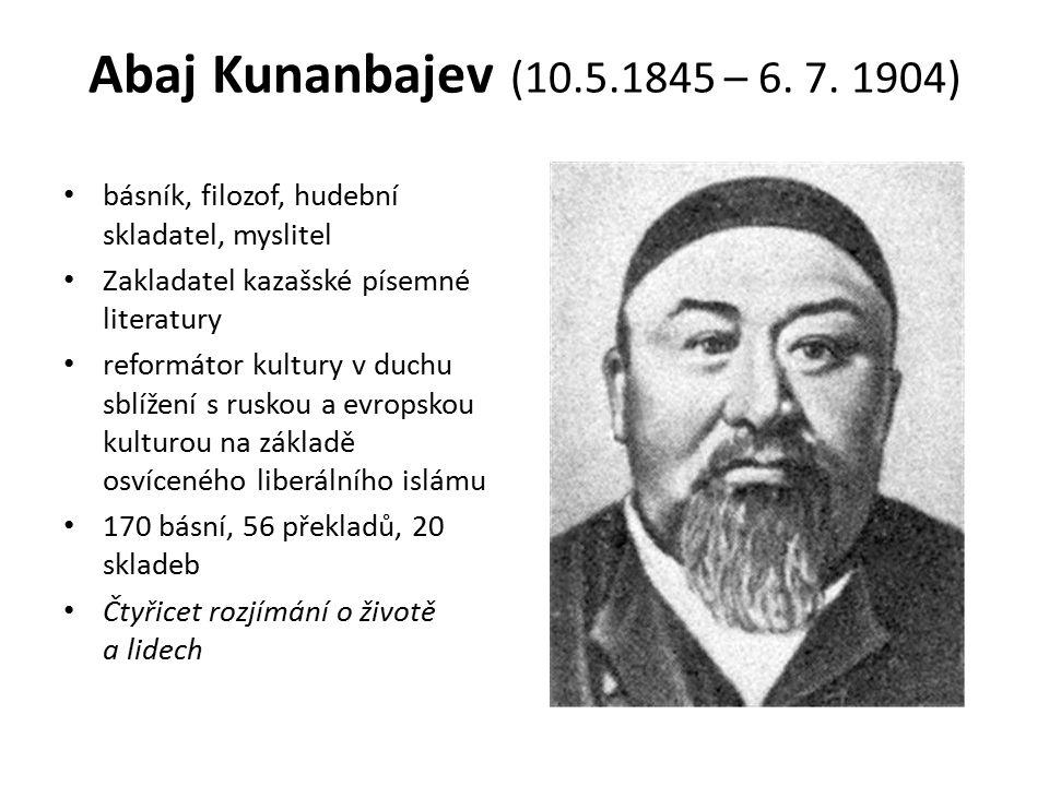 Abaj Kunanbajev (10.5.1845 – 6. 7.