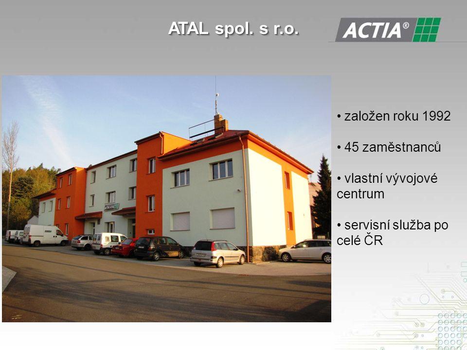 založen roku 1992 45 zaměstnanců vlastní vývojové centrum servisní služba po celé ČR ATAL spol.
