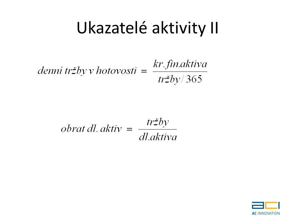 Ukazatelé aktivity II