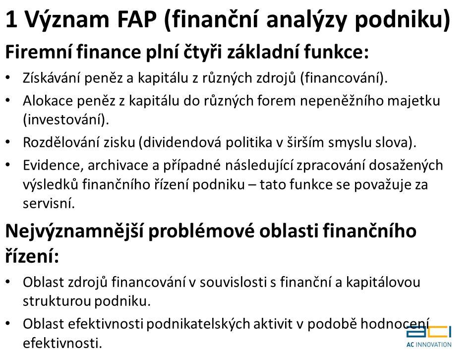 Firemní finance plní čtyři základní funkce: Získávání peněz a kapitálu z různých zdrojů (financování).