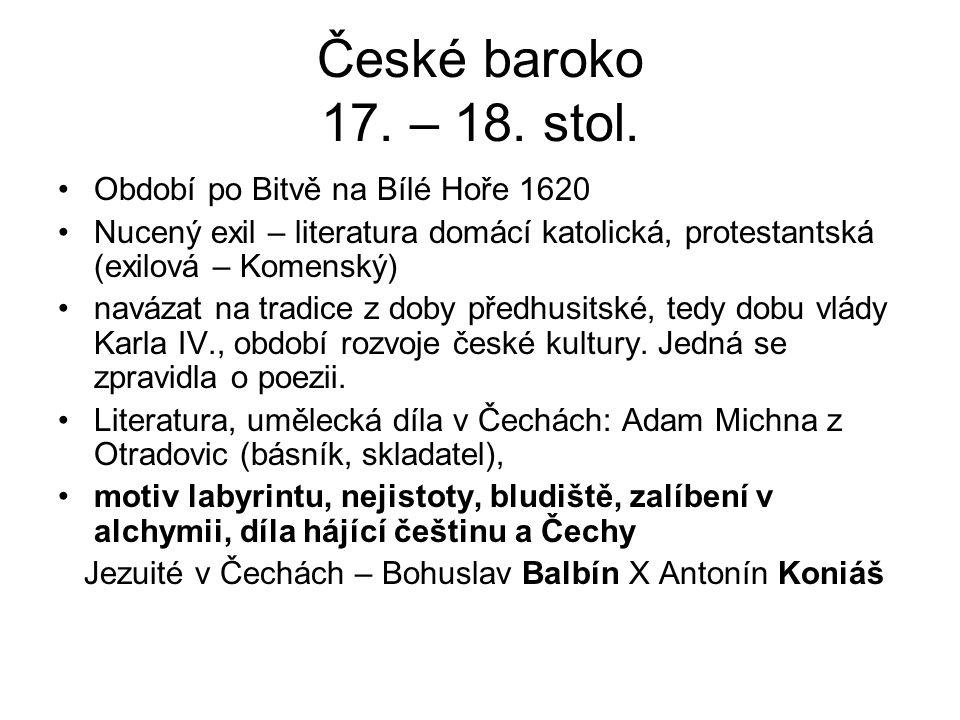 České baroko 17. – 18. stol.