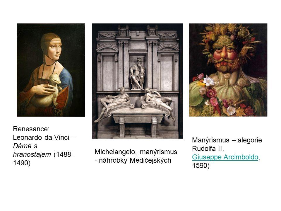Manýrismus – alegorie Rudolfa II. Giuseppe ArcimboldoGiuseppe Arcimboldo, 1590) nepravidelných tvarůatěžko postižitelných kř ivek nepravidelných tvarů