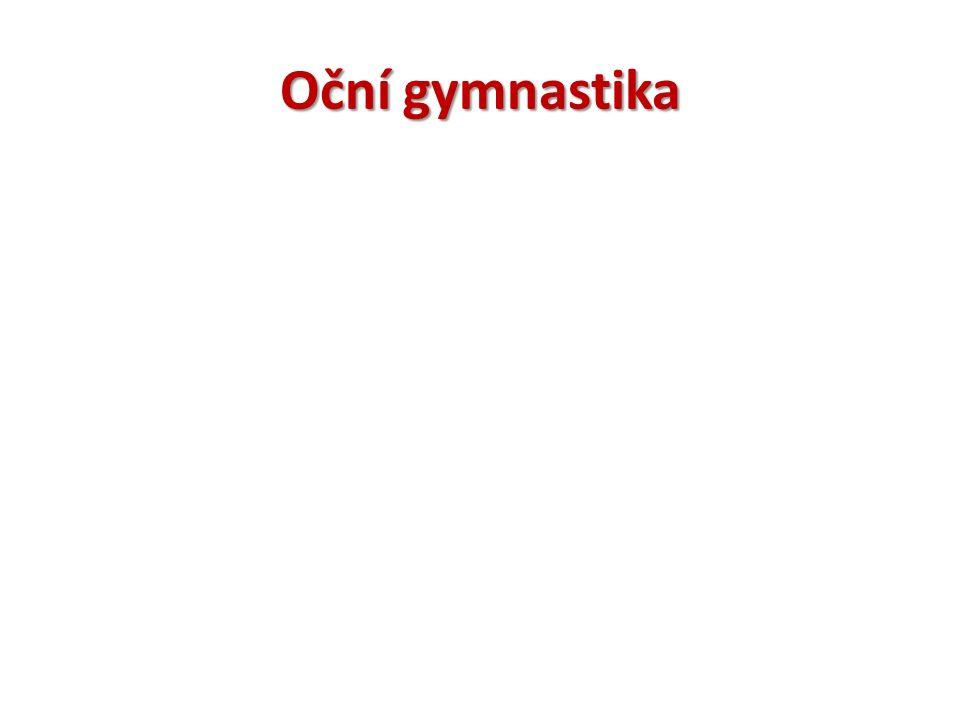 Oční gymnastika