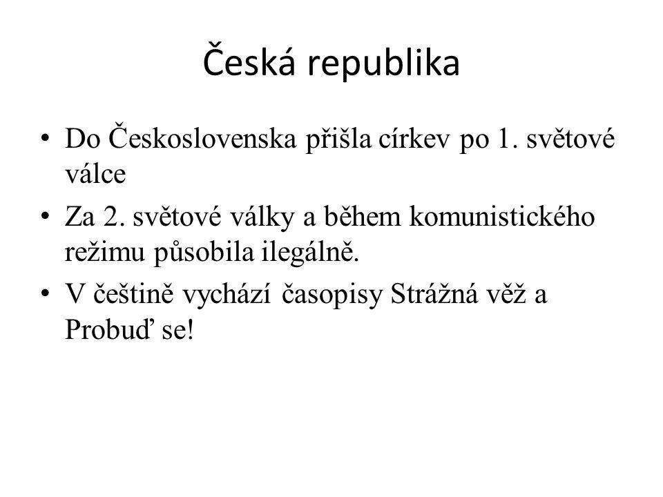 Česká republika Do Československa přišla církev po 1.