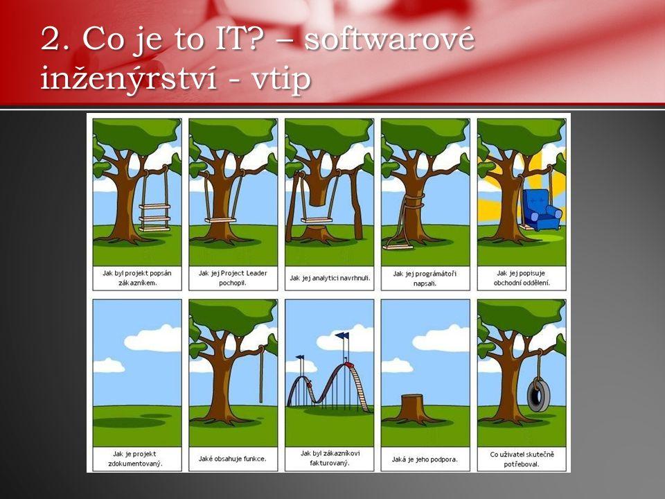 2. Co je to IT – softwarové inženýrství - vtip