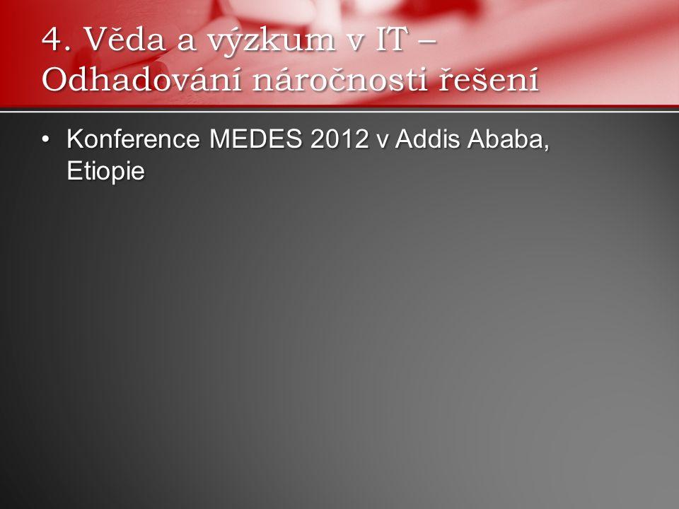 Konference MEDES 2012 v Addis Ababa, EtiopieKonference MEDES 2012 v Addis Ababa, Etiopie