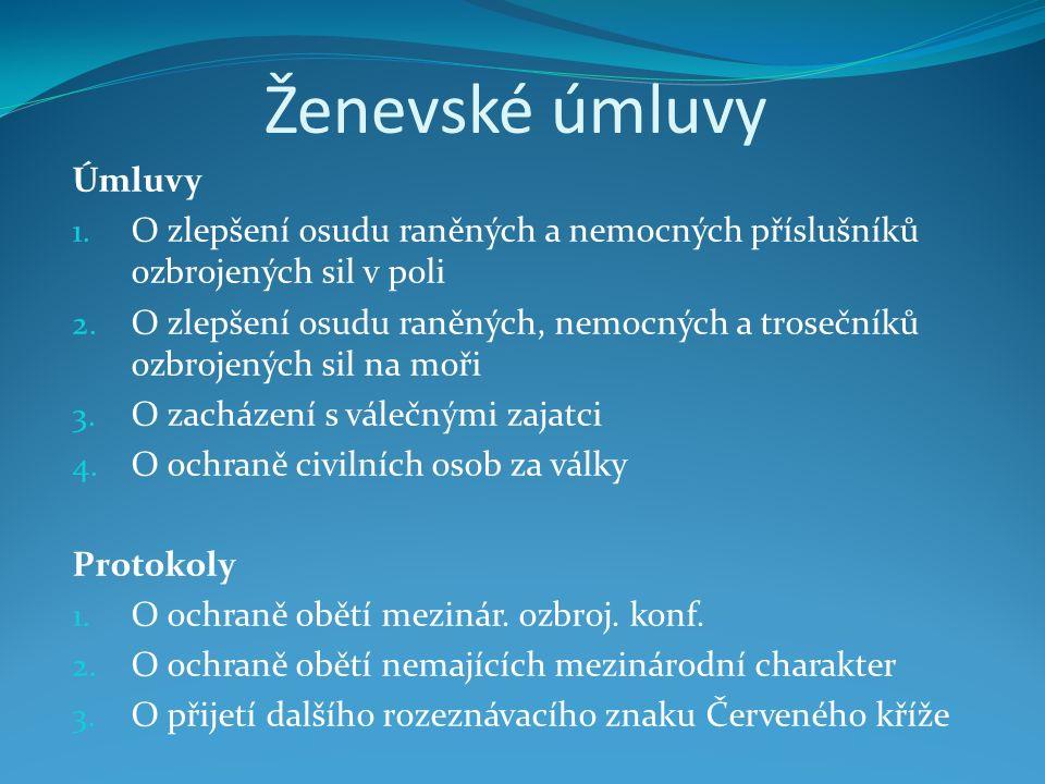 Ženevské úmluvy Úmluvy 1.