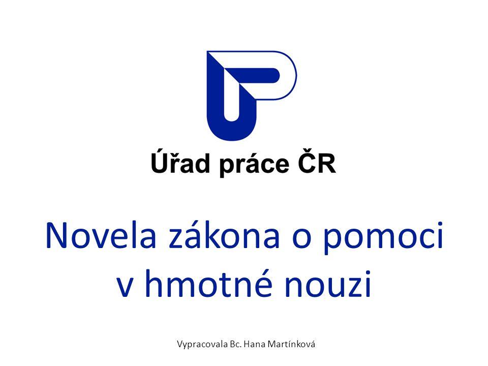 Novela zákona o pomoci v hmotné nouzi Vypracovala Bc. Hana Martínková