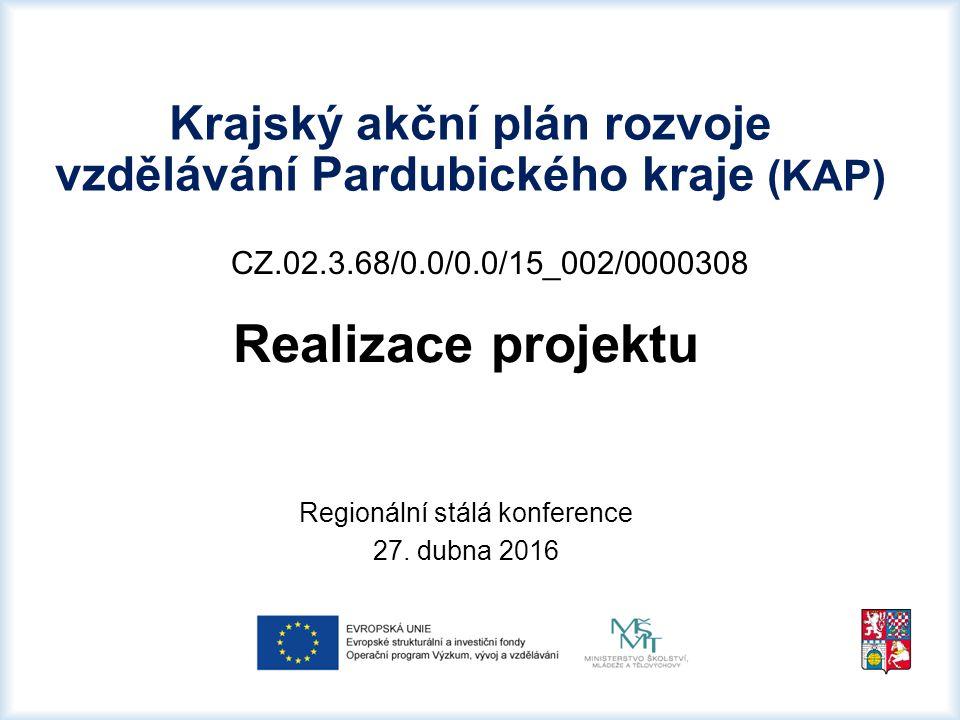 CZ.02.3.68/0.0/0.0/15_002/0000308 Realizace projektu Regionální stálá konference 27.