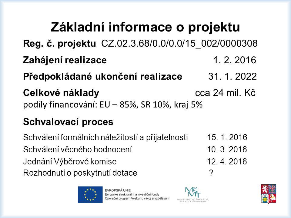 Základní informace o projektu Reg. č.