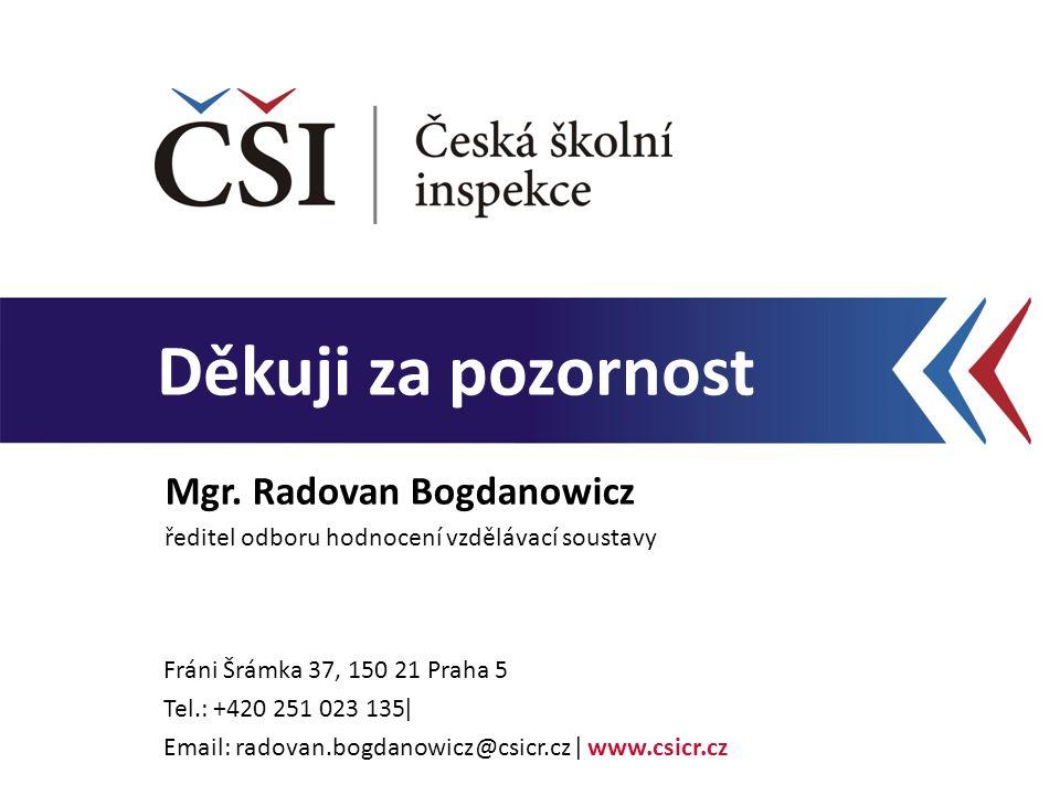 Děkuji za pozornost Fráni Šrámka 37, 150 21 Praha 5 Tel.: +420 251 023 135ǀ Email: radovan.bogdanowicz@csicr.cz ǀ www.csicr.cz Mgr.