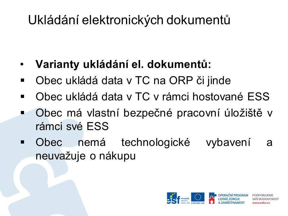 Ukládání elektronických dokumentů Varianty ukládání el.