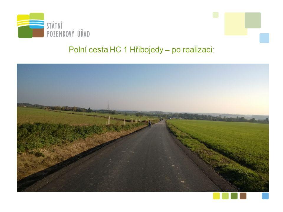 7 Polní cesta HC 1 Hřibojedy – po realizaci: