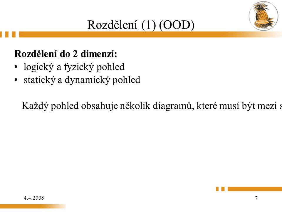 4.4.2008 118 Model analýzy (Příklad: OOSE)