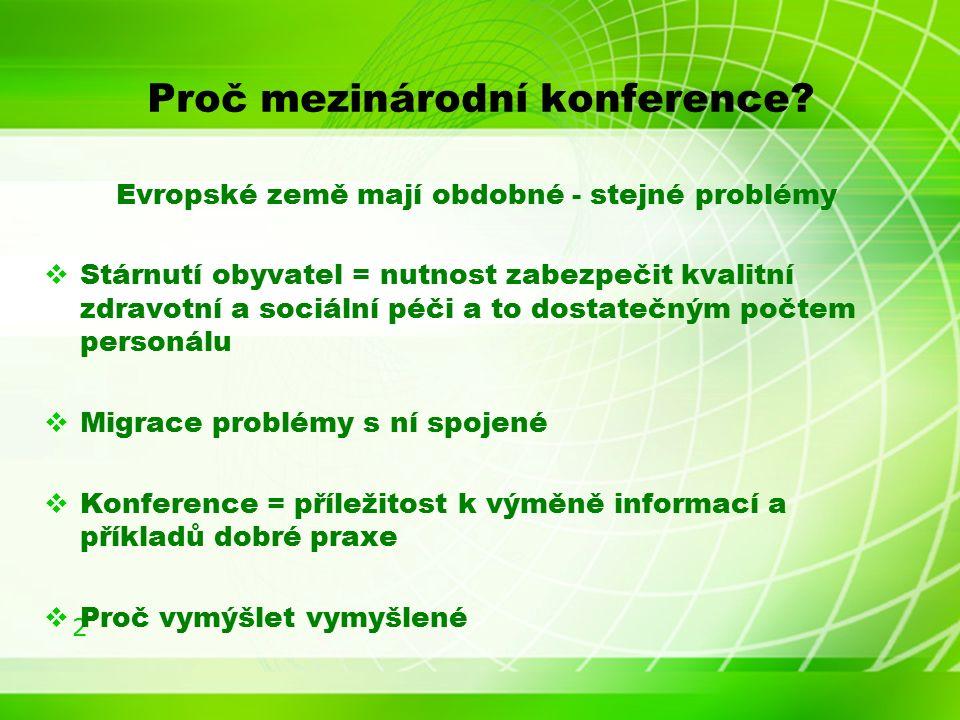 2 Proč mezinárodní konference.