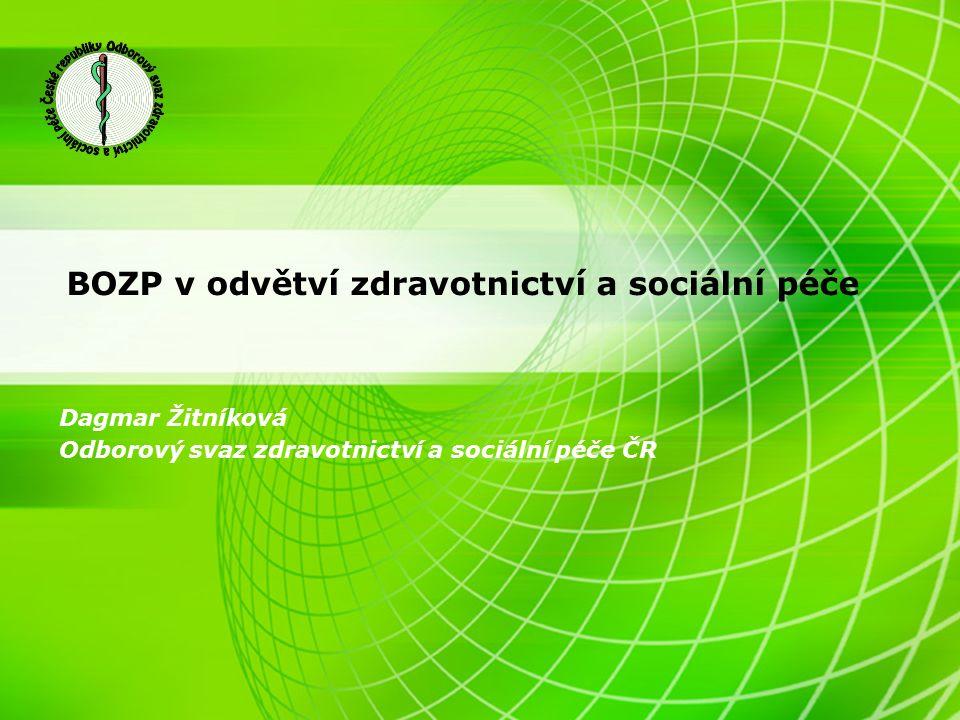 BOZP v odvětví zdravotnictví a sociální péče Dagmar Žitníková Odborový svaz zdravotnictví a sociální péče ČR