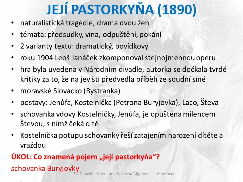 Opakování Gabriela Preissová se narodila v________________, ale přesto se zajímala o ____________ venkov.