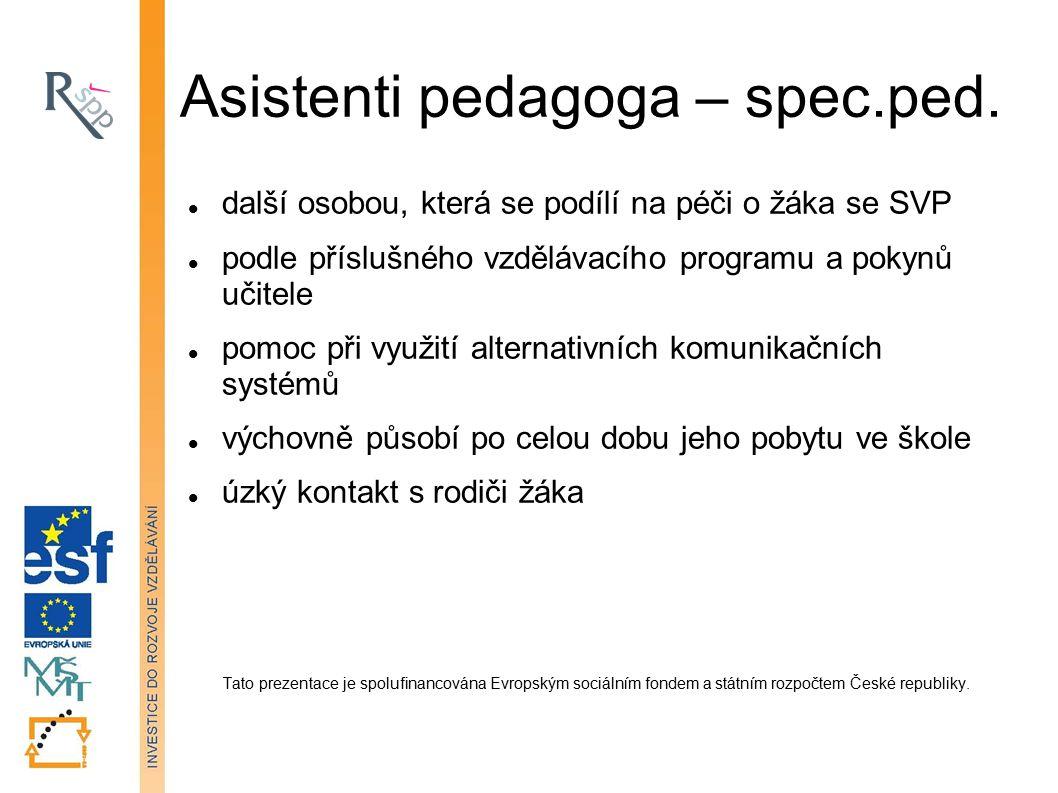 Asistenti pedagoga – spec.ped.