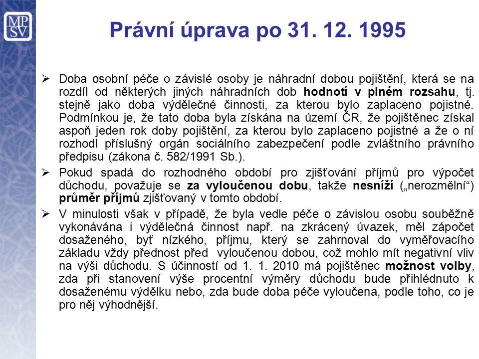 Právní úprava po 31. 12.