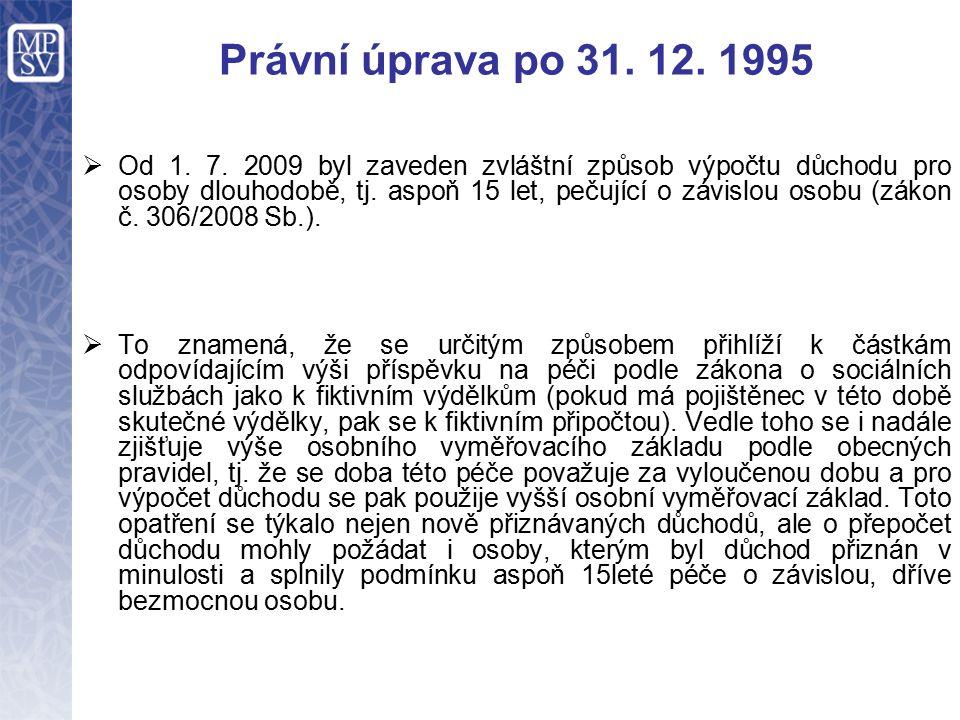 Právní úprava po 31. 12. 1995  Od 1. 7.