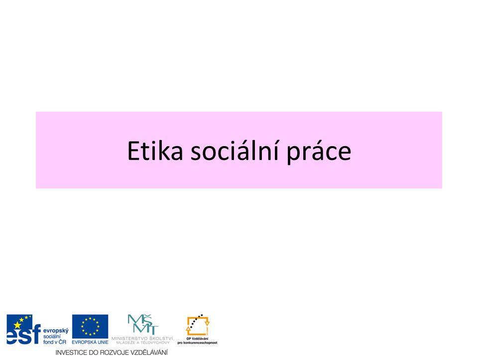 Etika sociální práce