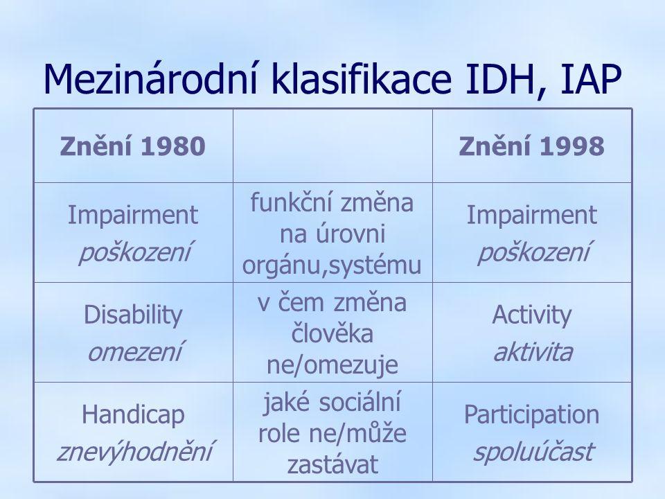 2006/2007Jabok - Speciální pedagogika Inkluze Stav společnosti - rozumí odlišnostem a akceptuje je, lidé s postižením se mohou zapojovat do všech činností jako lidé bez postižení (možnost vzdělávat se, žít, pracovat….