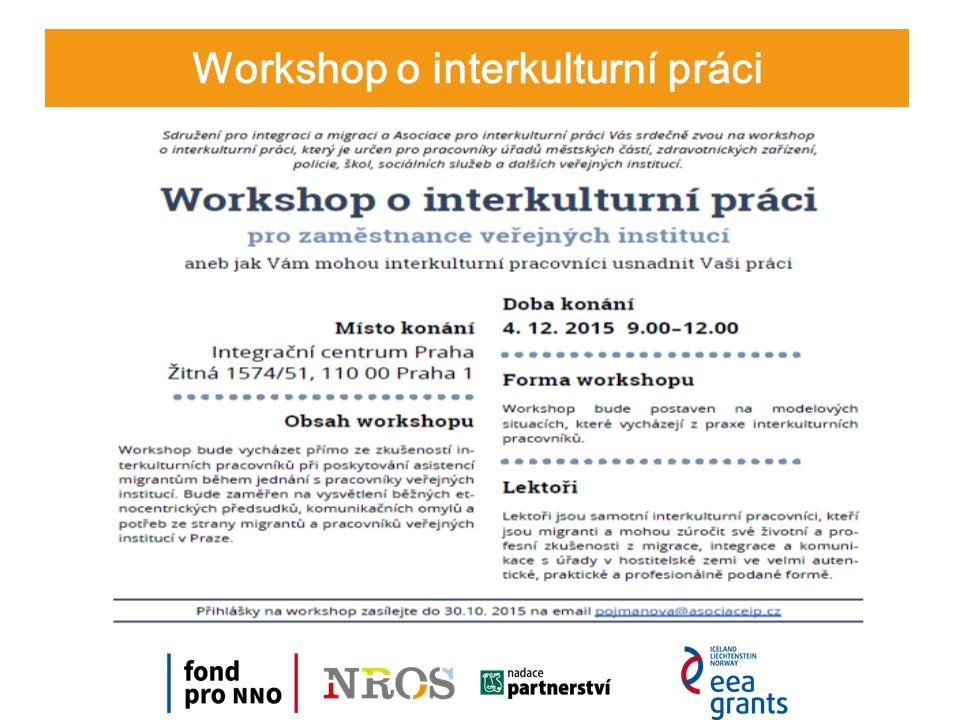 Workshop o interkulturní práci