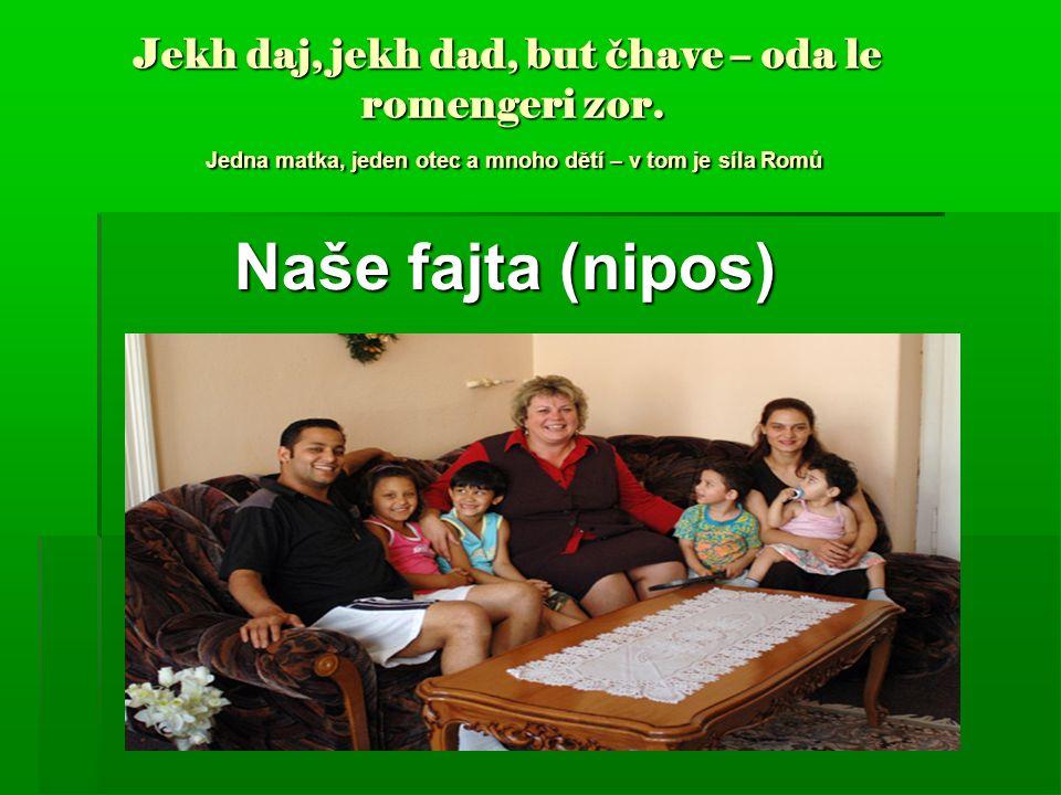 Jekh daj, jekh dad, but čhave – oda le romengeri zor. Jedna matka, jeden otec a mnoho dětí – v tom je síla Romů Jekh daj, jekh dad, but čhave – oda le