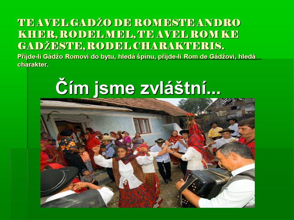 TE AVEL GAD Ž O DE ROMESTE ANDRO KHER, RODEL MEL, TE AVEL ROM KE GAD Ž ESTE, RODEL CHARAKTERIS.