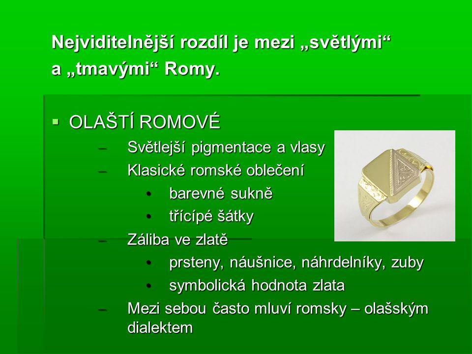 """Nejviditelnější rozdíl je mezi """"světlými"""" a """"tmavými"""" Romy.  OLAŠTÍ ROMOVÉ – Světlejší pigmentace a vlasy – Klasické romské oblečení barevné sukně ba"""